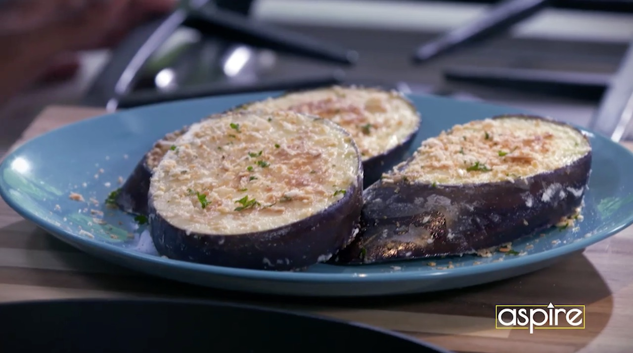 Panko crusted eggplant aspire tv yields2 servings forumfinder Image collections